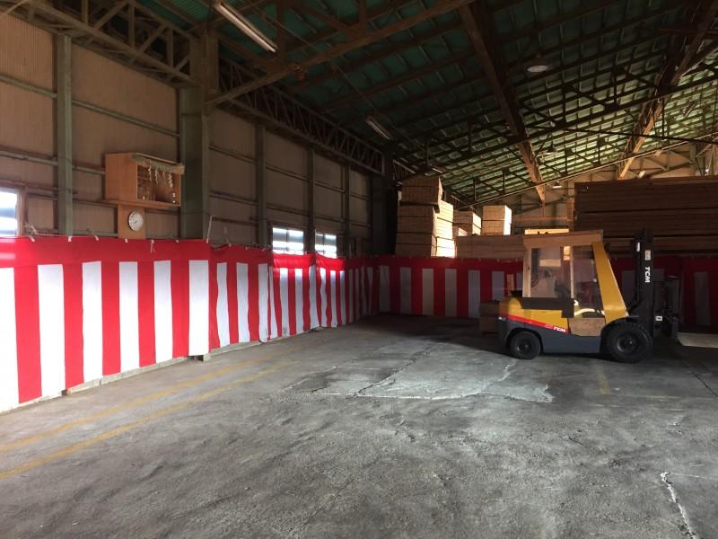 倉庫内清掃&準備4  なんという事でしょう!風ですかね。